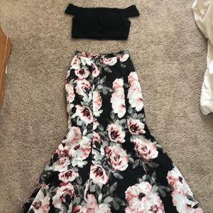 Blondie Nites Two piece prom dress